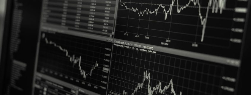 world market stocks on computer screen