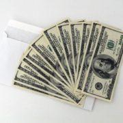 12 one-hundred dollar bills
